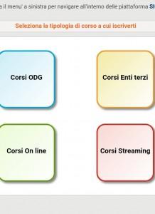 """Per prenotarsi ai nostri eventi dal SIGEF bisogna cliccare nel quadrato giallo """"CORSI ENTI TERZI"""" e da lì fare ricerca per luogo"""